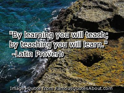 By-learning-you-will